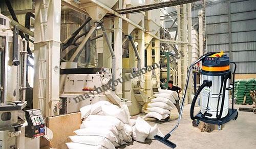 Sử dụng máy hút bụi công suất lớn trong nhà máy xay xát
