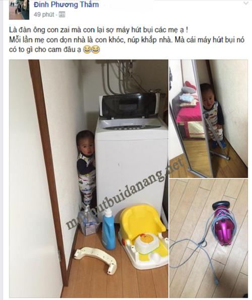 Tâm sự của một bà mẹ khi con mình sợ máy hút bụi