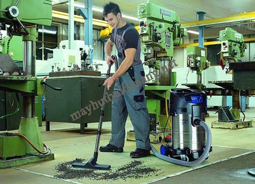 Sử dụng máy hút bụi công nghiệp có thể đáp ứng tốt mọi yêu cầu vệ sinh của người dùng hiện nay