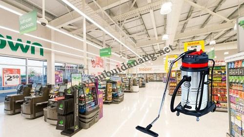máy hút bụi 90l được sử dụng nhiều ở các siêu thị, trung tâm thương mại