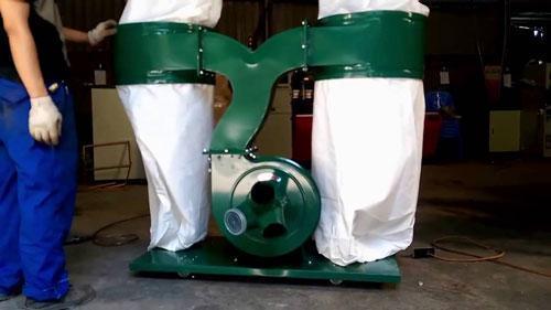 Lắp đặt máy hút bụi công nghiệp 2 túi vải