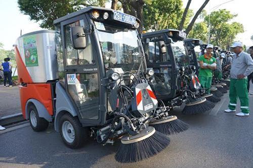 Xe quét rác trở nên thông dụng ở nước ta hiện nay
