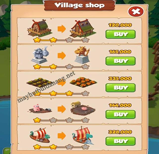 Nâng cấp làng của bạn để nhận phần thưởng hấp dẫn