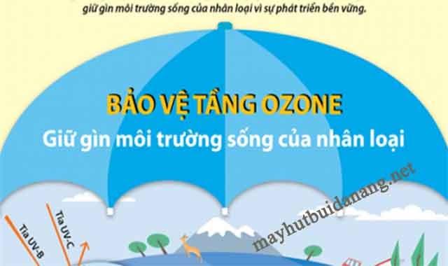 Tầng ozon hấp thụ các tia cực tím, tránh chiếu thẳng xuống Trái Đất