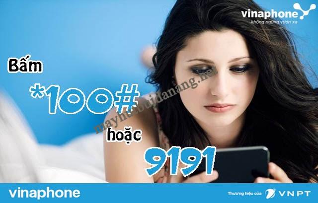 Cách kiểm tra gói cước đang sử dụng của đầu số 091 là chọn *100# hoặc gọi 9191