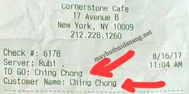 """""""Ching chong"""" chỉ người Trung Quốc"""