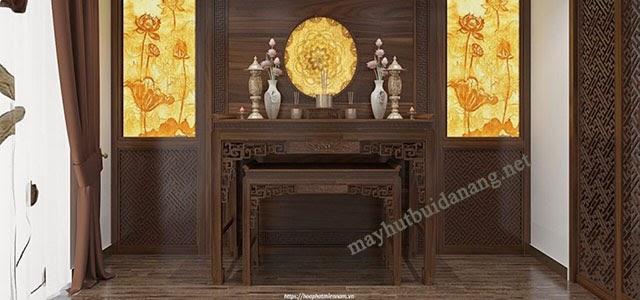 Họa tiết Mandala được ứng dụng vào tranh Trúc trong phòng thờ