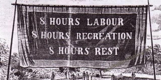 Khẩu hiệu đòi quyền lợi của giai cấp công nhân tại Chicago, Mỹ