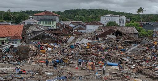 Trận sóng thần mới đây nhất vào ngày 24 tháng 12 năm 2018 tại Indonesia