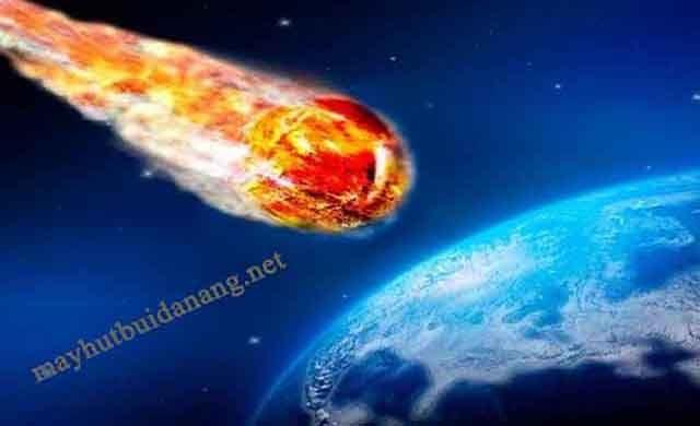Hình ảnh mô phỏng sự va chạm khủng khiếp của thiên thạch và Trái Đất