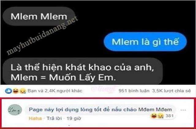 Ý nghĩa của mlem mlem trên Facebook hiện nay