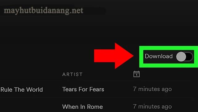 Download nhạc trên máy tính tại ứng dụng Spotify