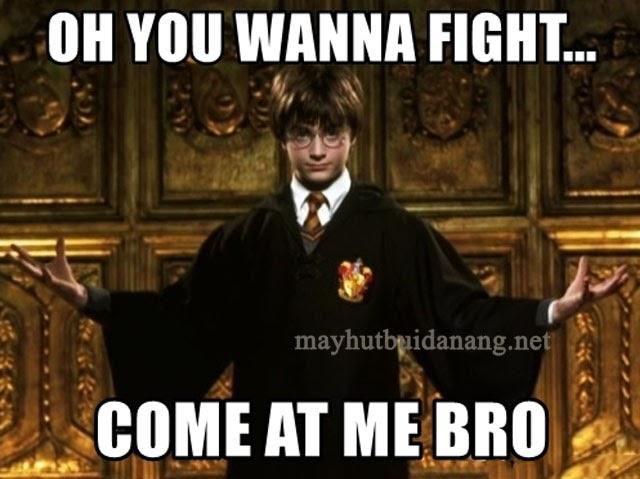 Harry khi đối đầu với phản diện. Nguồn: Sưu tầm