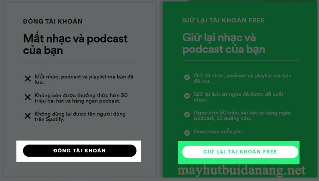 Hai lựa chọn quan trọng trước khi xóa tài khoản Spotify