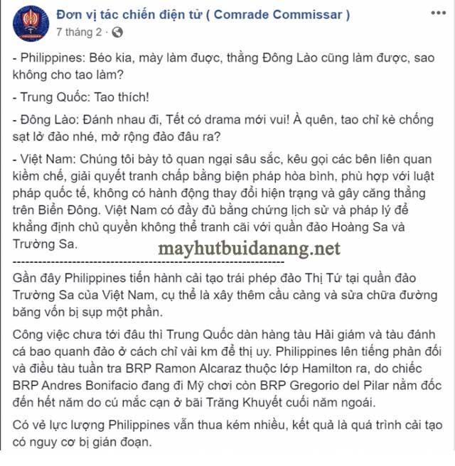 """Một cách sử dụng cụm từ """"Đông Lào"""" của fanpage Đơn vị tác chiến điện tử"""