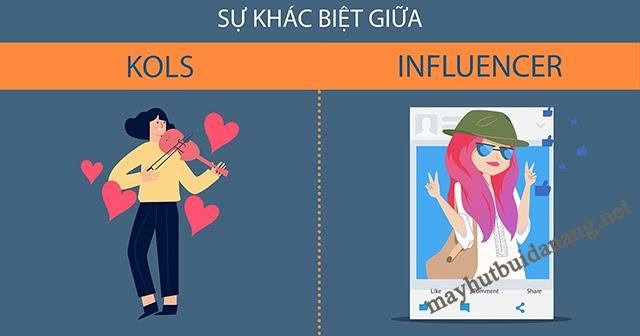 Sự khác nhau giữa KOL và Influencer