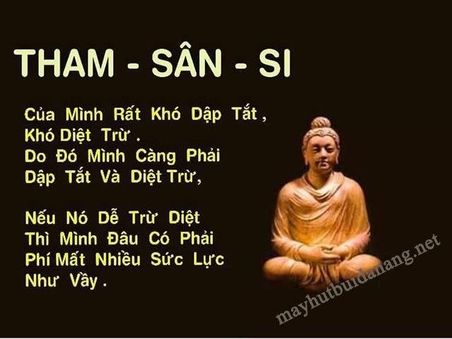 """""""Tham - sân - si"""" theo lời Phật dạy"""