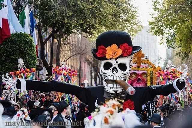 Lễ hội Halloween tưng bừng ở Mexico